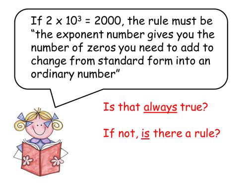 Standard Form Always True By Katekn Teaching Resources Tes
