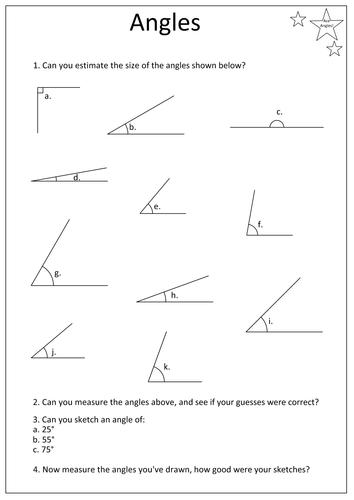 estimating angles worksheet resultinfos. Black Bedroom Furniture Sets. Home Design Ideas