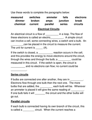 electric circuit answers