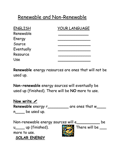 Renewable And Non Renewable Resources By Viksav Teaching