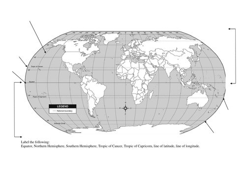Label the geographical features of a map