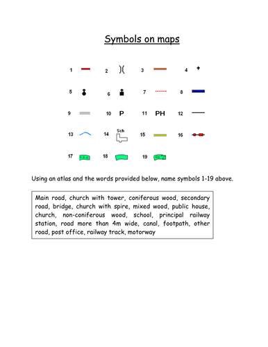 Os Map Symbols Activity By Tandrews11 Teaching Resources Tes