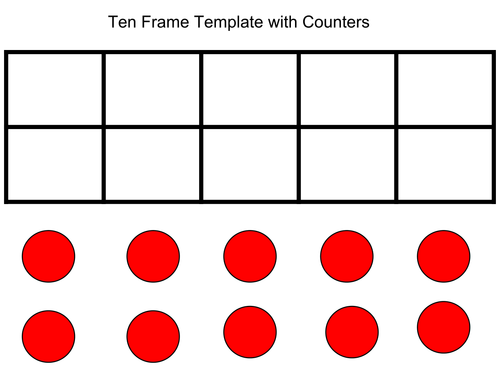 Ten frame template by grich005 teaching resources tes maxwellsz