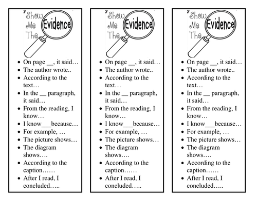 bookmark for citing text evidence by hstribling teaching resources tes. Black Bedroom Furniture Sets. Home Design Ideas