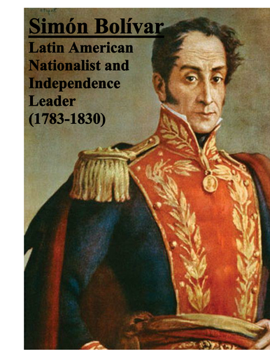 Simon Bolivar Poster by groovingup | Teaching Resources