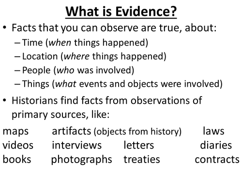 Evidence, Inferences, analysis, and claims by groovingup
