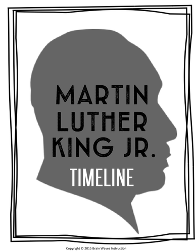 dr martin luther king jr passage timeline by