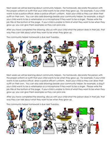 Community Helper homework