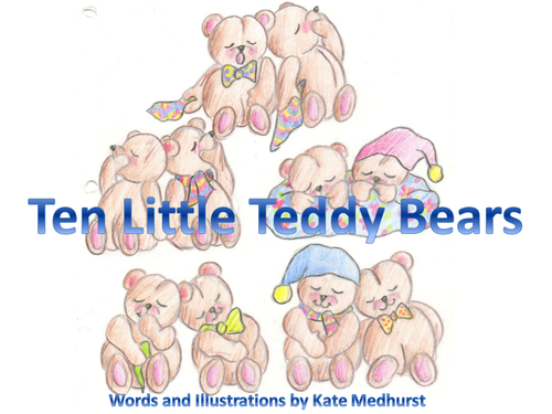 Ten Little Teddy Bears - A Counting Story