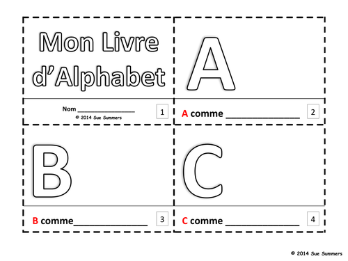 Alphabet Sketch And Color Booklet