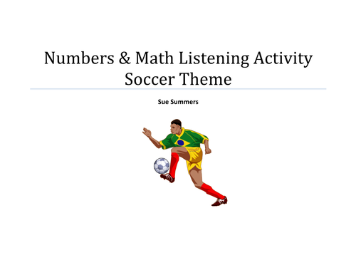 Numbers and Math Listening Activity - Soccer Theme - English