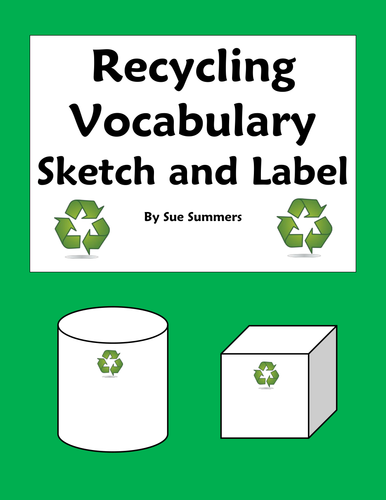 Recycling Vocabulary Sketch and Label Activity