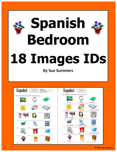Spanish Bedroom Items 18 Vocabulary Ids El Dormitorio By