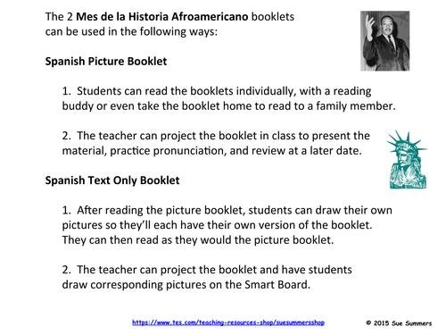 Spanish Black History Month - 2 Emergent Reader Booklets