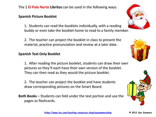 Spanish Christmas / Navidad El Polo Norte 2 Booklets