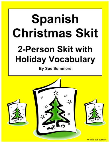 Spanish Christmas Skit Speaking Activity Role Play Teaching Resources