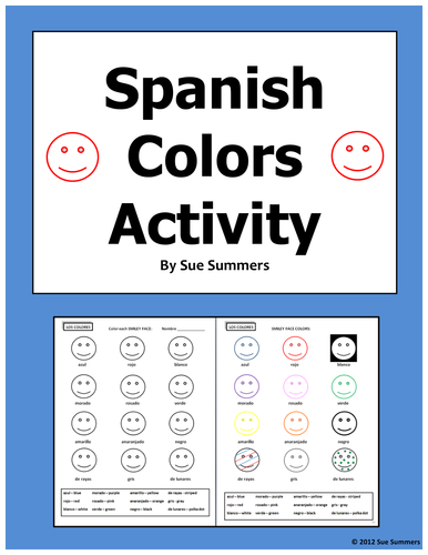 spanish colours activity los colores by uk teaching resources tes. Black Bedroom Furniture Sets. Home Design Ideas