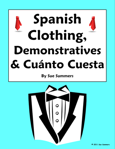 Spanish Demonstrative Adjectives and Clothing Worksheet #1 by ...