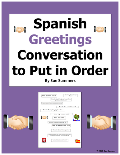 Spanish greetings conversation to put in order greetings skit by spanish greetings conversation to put in order greetings skit by suesummersshop teaching resources tes m4hsunfo