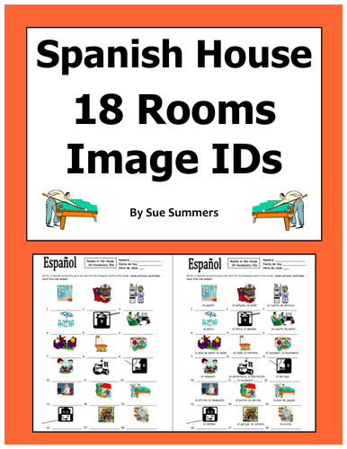 Sue Summers Shop - Teaching Resources - TES on kitchen labeled in spanish, bathrooms labeled in spanish, bedroom labeled in spanish,