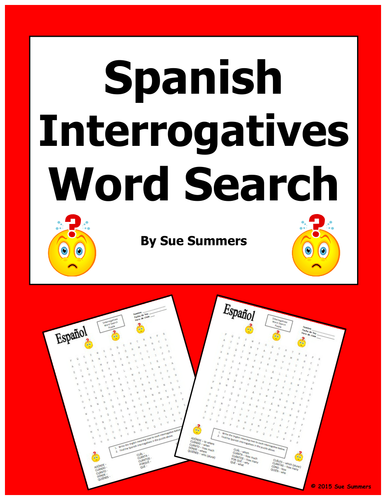 Question Word Time Trials Spanish Interrogative Questions by rlowers furthermore HD Interrogative Words In Spanish Download ImageMart furthermore  together with Question Words in French as well Worksheet Interrogative Words Spanish as well 101 FREE Word Order Worksheets likewise  in addition Interrogative Words In Spanish Worksheet   Teachers Pay Teachers in addition The Interrogative And Conditional Mood Verb Worksheet Verb Practice additionally Spanish Worksheets Answers likewise Interrogatives Words Sentences   Spanish Questions Words Worksheet additionally Spanish Interrogatives Word Search Puzzle Worksheet by further objectives   Elgin Public s moreover Middle Worksheets A For High On Free Printable Handout Spanish 1 together with  further The Interrogative And Conditional Mood Verb Worksheet Verb Practice. on interrogative words in spanish worksheet