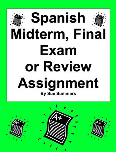 Spanish 1 final exam review packet by sairama | Teaching