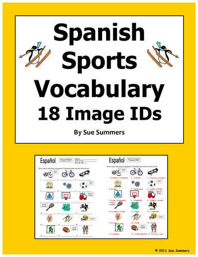 Spanish Weather Seasons 18 Vocabulary Ids Worksheet By