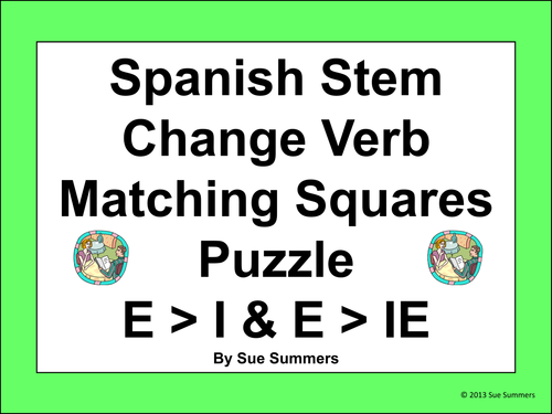 Stem Changing Verb Practice E Gt Ie Verbs By Wumpus30