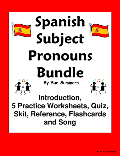 Spanish Subject Pronouns Bundle - Practice, Quiz, Skit, Intro and More