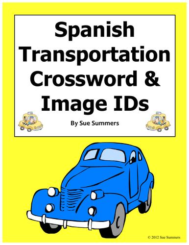 spanish transportation crossword puzzle worksheet el transporte by suesummersshop teaching. Black Bedroom Furniture Sets. Home Design Ideas