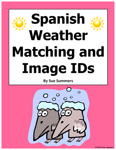 Spanish Weather Matching Worksheet Or Quiz With Vocabulary