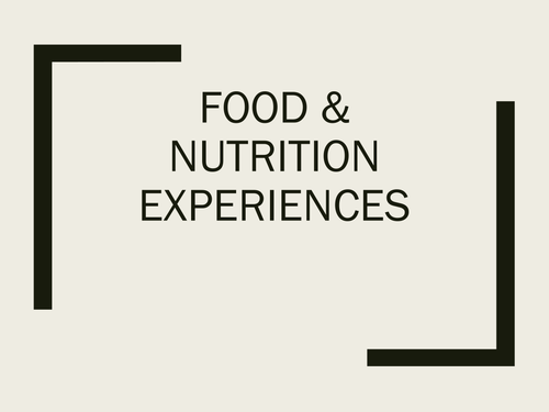 Early Childhood Education A Unit 2 day 8 power point Food Experience