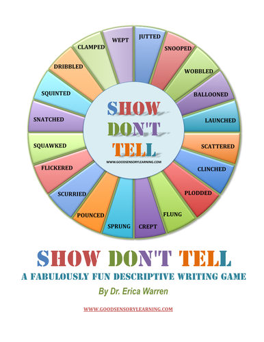 Show Dont Tell Descriptive Writing Game By Ericawarren Teaching