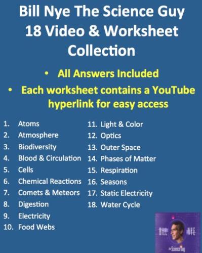 Worksheets Bill Nye Matter Worksheet bill nye video worksheets complete 20 worksheet collection all vertical jpeg