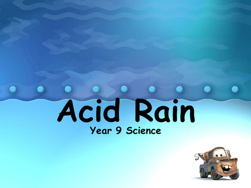 Acid Rain Activity KS3