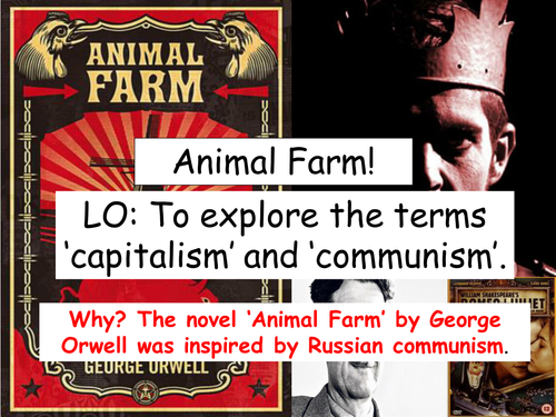 a mock of communism in animal farm by george orwell Free coursework on animal farm communism through the eyes of george orwell from essayukcom, the uk essays company for.