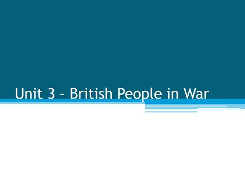 Propaganda in both wars - AQA unit 3 British People in War