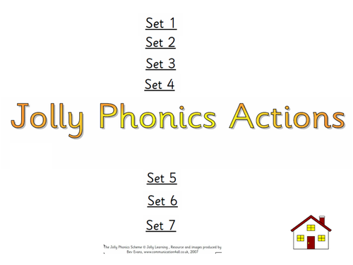 Jolly Phonics Actions with pictures