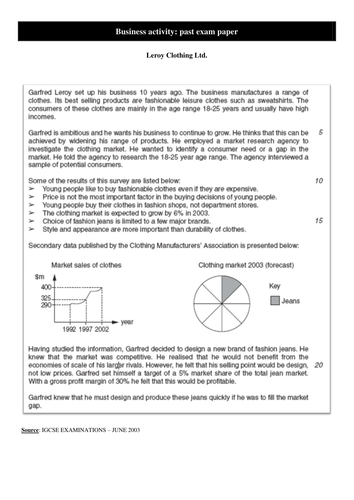 Past papers by topic by bastientsc | Teaching Resources