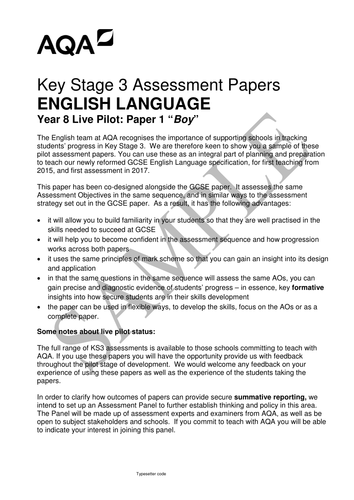 AQA English Language Paper 1 (from 2015)