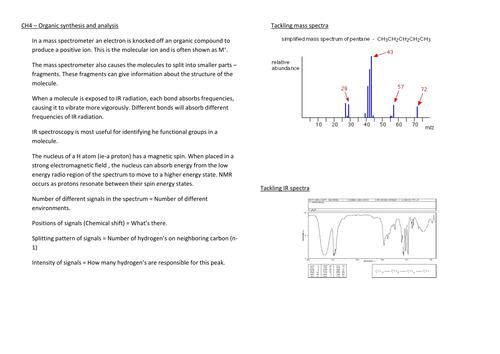 WJEC Spectroscopy