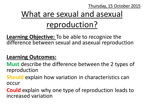 What are sexual and asexual reproduction?