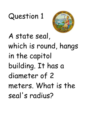Radius, Diameter and Circumference of a circle. by