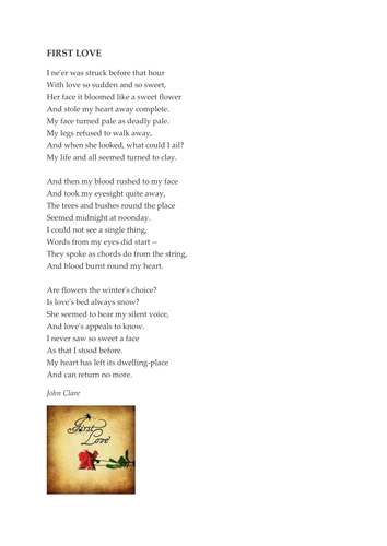 'First Love' by John Clare