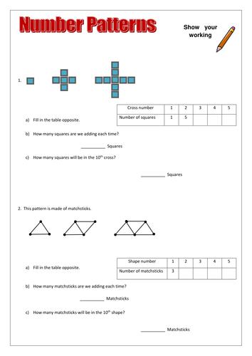 number patterns worksheet by gally 22 teaching resources. Black Bedroom Furniture Sets. Home Design Ideas
