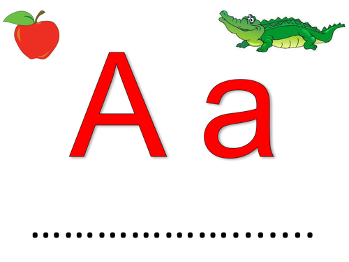 Alphabet play dough mat