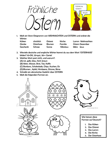Ostern Arbeitsblatt by lfenner1 - Teaching Resources - Tes