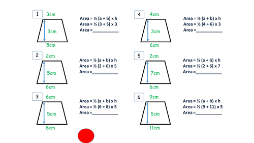 Trapezium Area by JamesCMartin Teaching Resources Tes – Area of Trapezoids Worksheet