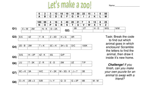 algebra zoo fun substitution worksheet by captainloui teaching resources. Black Bedroom Furniture Sets. Home Design Ideas