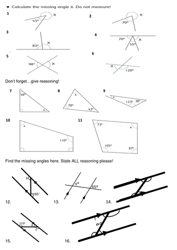 Angle Revision